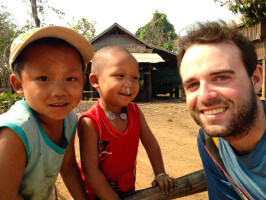 With kids in a remote village, Myanmar