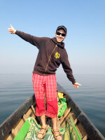 On a boat on Inle Lake, Myanmar