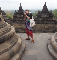 Shooting in Borobudur temple, Indonesia