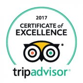 TripAdvisor's Certificate of Excellence 2017