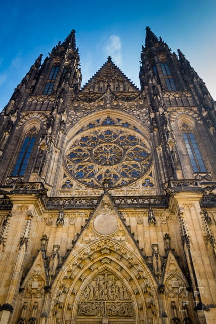 Low angle view of St. Vitus Cathedral, Prague