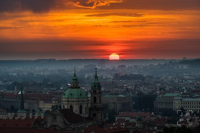 St. Nicolas church at sunrise, Prague