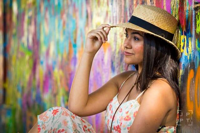 Emily at John Lennon Wall