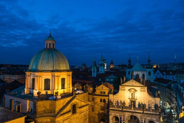 Church of St. Francisco at night