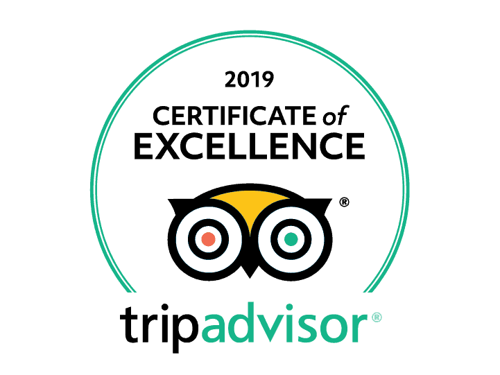 TripAdvisor's Certificate of Excellence 2019