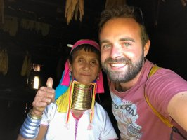 Jan with a woman from Kayan tribe, Myanmar