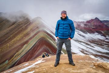 Jan Miřacký at Rainbow mountain, Peru