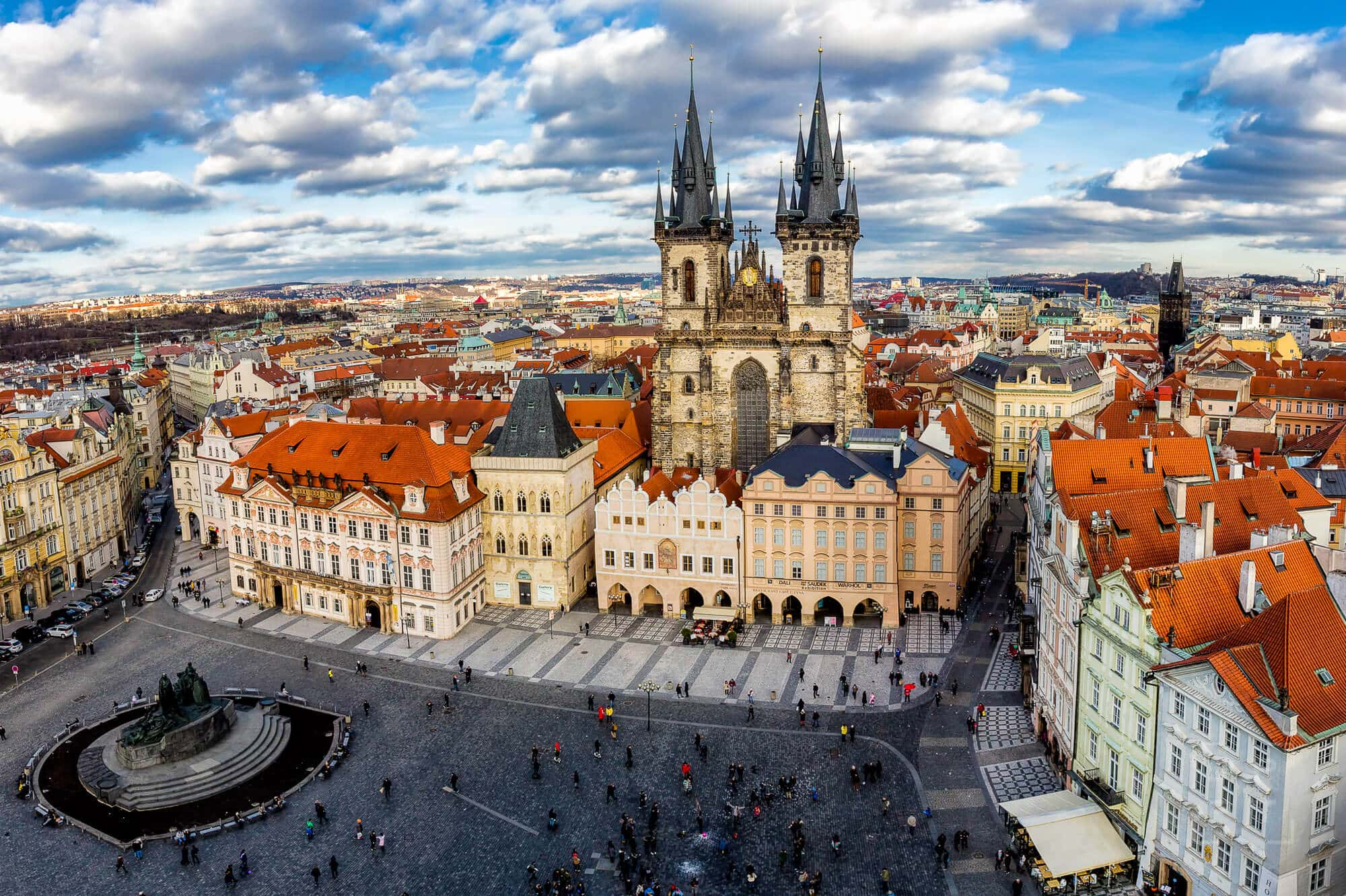 Old Town Square and Tyn Church, Prague