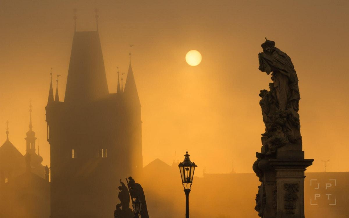 Misty morning on Charles bridge